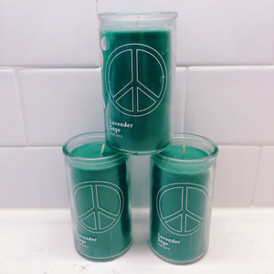 Peace Sign - Lavender Sage Candle