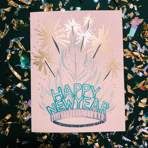 New Years Tiara Card