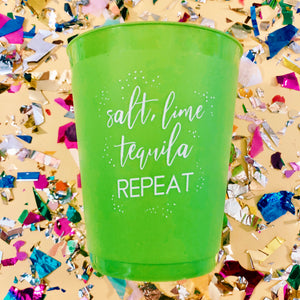 Salt, Lime, Tequila Repeat Cups