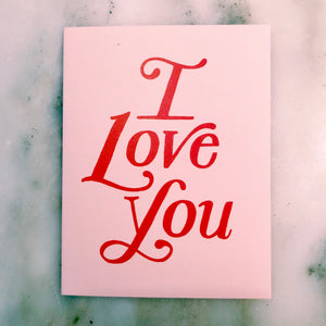 I Love You Paperback Card