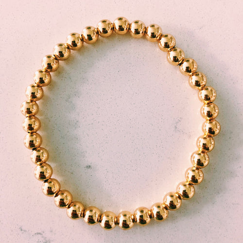 Gold Large Bead Bracelet