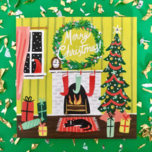 Festive Fireplace Card