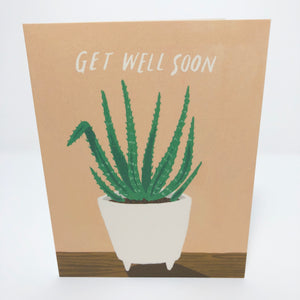 Get Well Soon Aloe Card