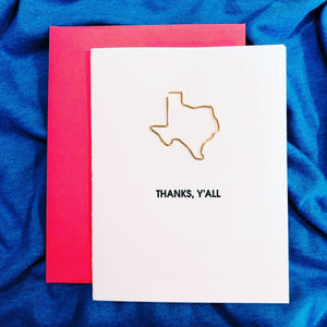 Thanks, Y'all Texas Card