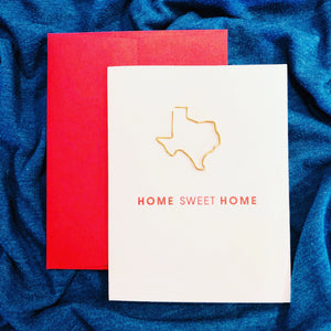 Home Sweet Home Texas Card