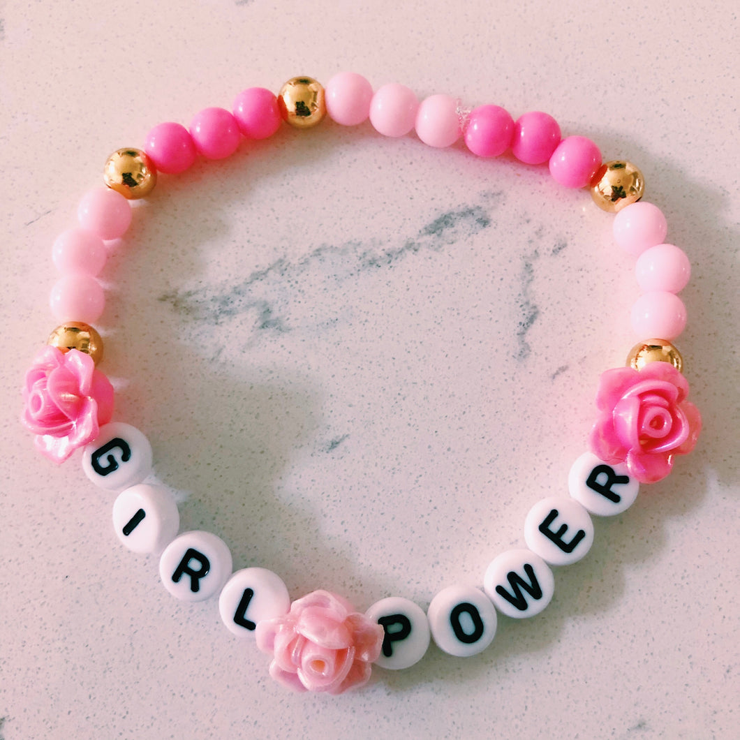 Girl Power Beaded Bracelet