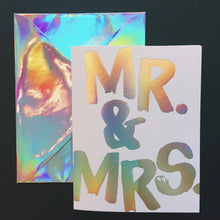 Mr. & Mrs. Hologram Card