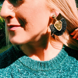 Black Caroline Earrings