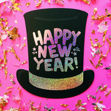 Happy New Year Top Hat Card