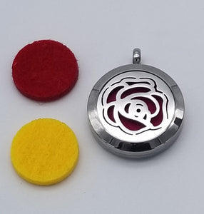 Brand New Rose Aroma Essential Oil Diffuser Locket Pendant