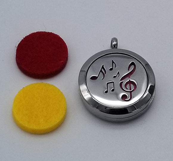 Brand New Musical Notes Aroma Essential Oil Diffuser Locket Pendant