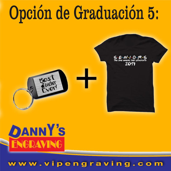 Graduation Gift Set T-Shirt + Keychain