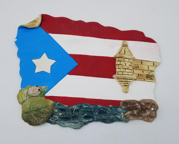 Puerto Rico Flag Old San Juan Artisan Craft