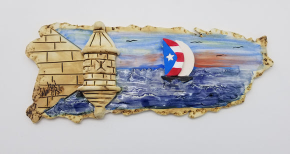Puerto Rico Map Old San Juan Artisan Craft