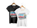 Fiestas de la Calle San Sebastian Short Sleeve T-Shirt with Old San Juan Bricks