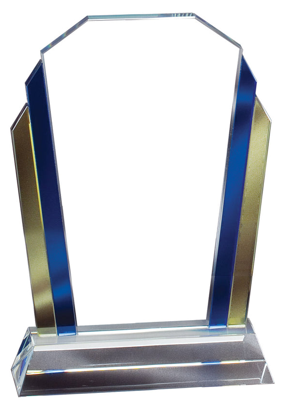 Blue / Yellow Border Colorful Glass Award