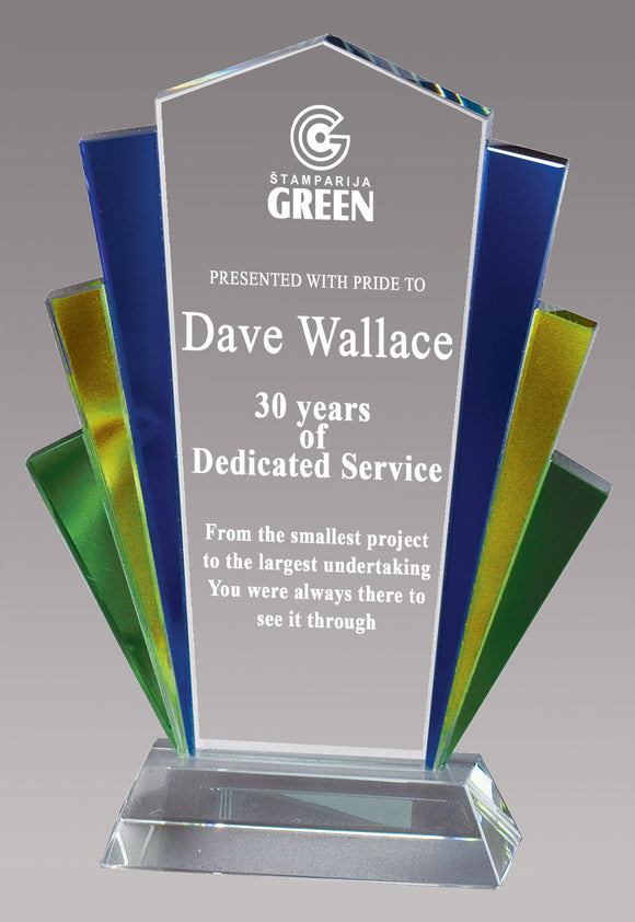 Fan Colorful Glass Award