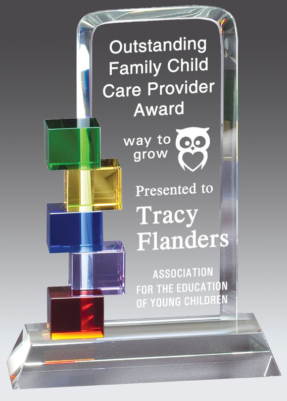 Cubes Colorful Glass Award