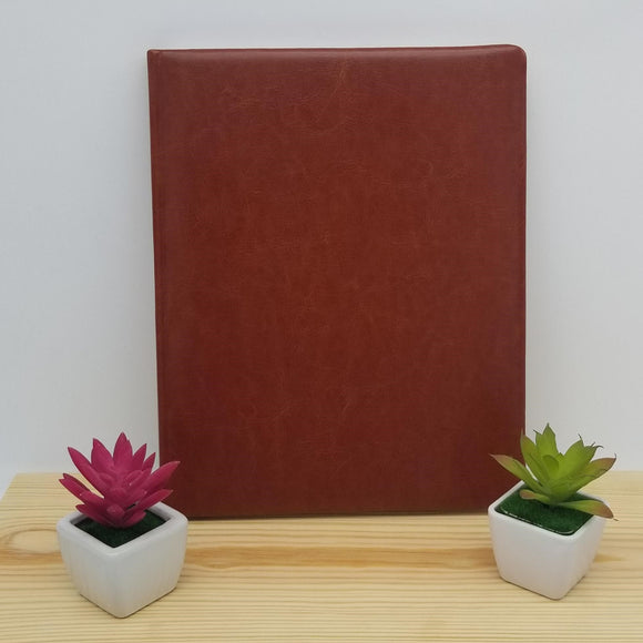 Personalized Faux Leather Professional Journal / Notebook