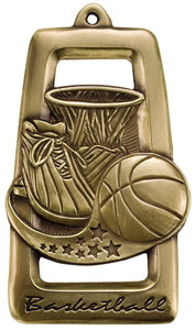 "Basketball 2 3/4"" Star Blast Medal"