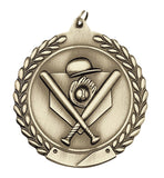 Baseball 2 Sizes Die Cast Medal