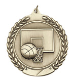 Basketball 2 Sizes Die Cast Medal