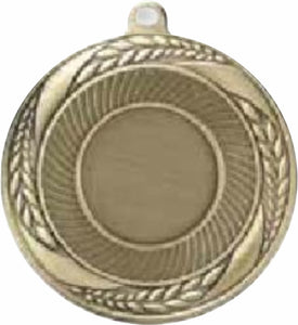 "2 1/4"" Laurel Wreath Medal With 1"" Insert Logo"
