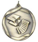 "Graduation 2 1/4"" Die Cast Medal"