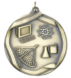 "Science 2 1/4"" Die Cast Medal"