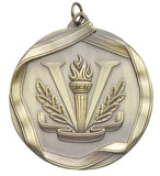 "Victory / Physical Education 2 1/4"" Die Cast Medal"