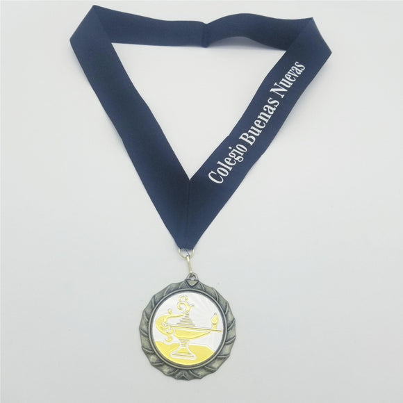 Insert Medal with Engraved Ribbon