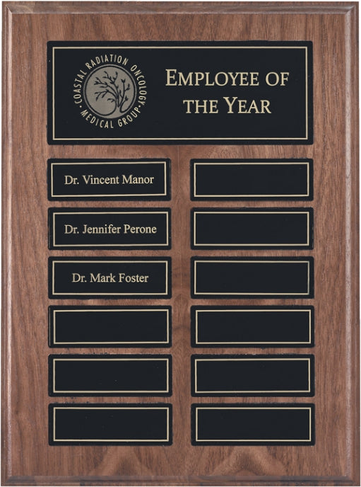 Recognition Pocket 12 Plate Perpetual Plaque