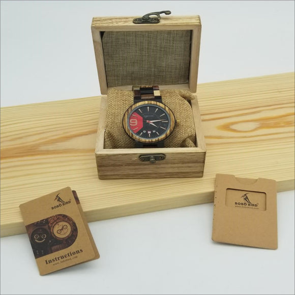 Bobo Bird Luxury Wooden Watch for Men