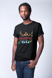 Oh Deer Christmas is Here Adult Black T-Shirt