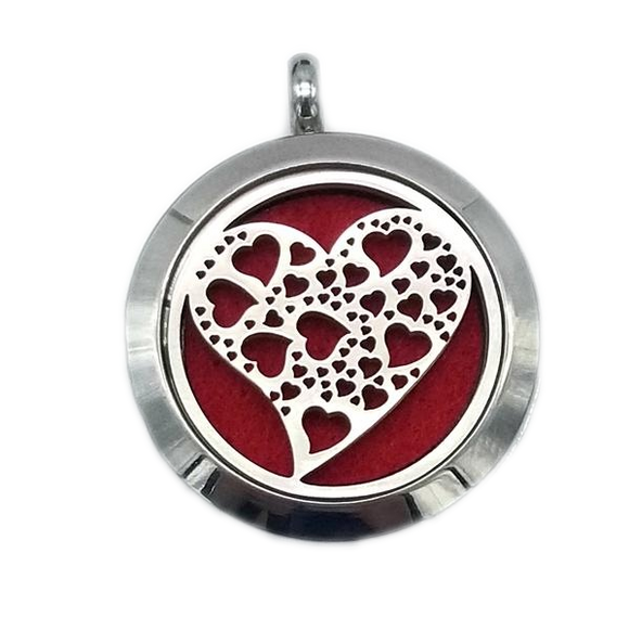 Brand New Hearts Aroma Essential Oil Diffuser Locket Pendant