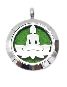 Brand New Buddha Zen Spa Aroma Essential Oil Diffuser Locket Pendant