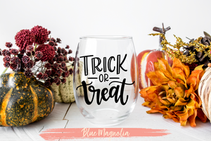 Trick or Treat Wine Glass