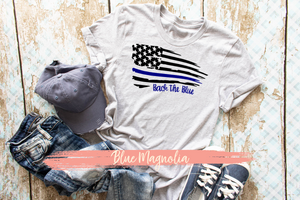 Back the Blue Distressed Flag