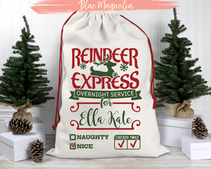 Reindeer Express Santa Bag