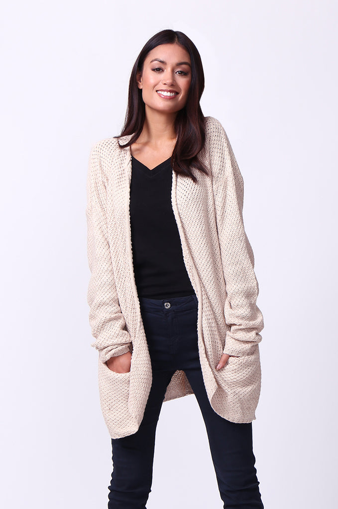 WAFFLE KNIT CREW NECK JUMPER