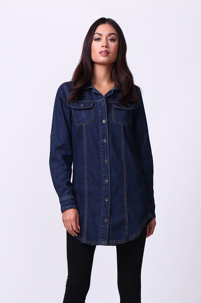 POCKET DENIM TOP