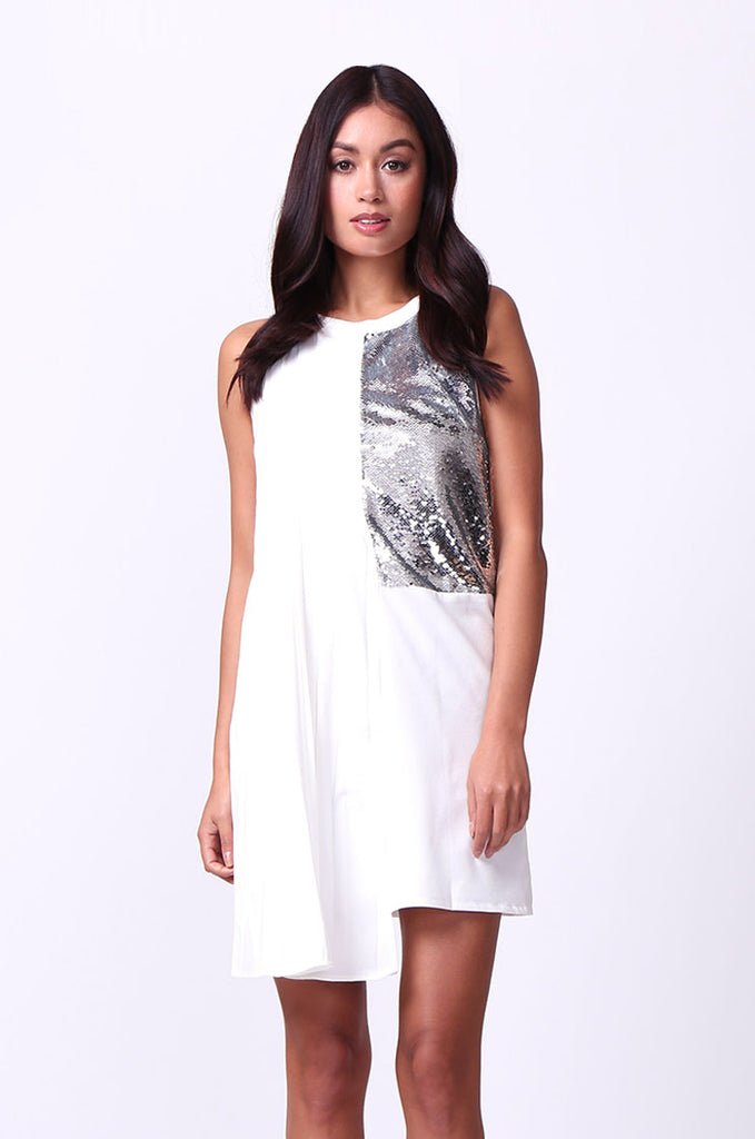 SEQUIN PANEL DRESS