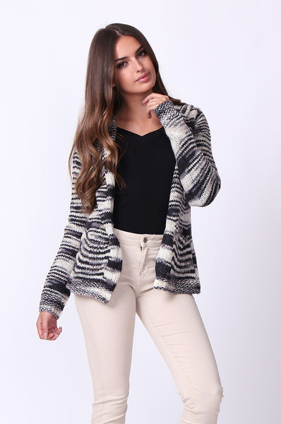TWEEDY HOODED CARDIGAN