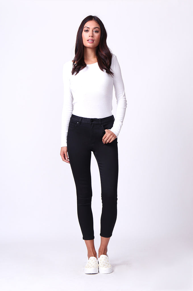 SF0230-BLACK POPPY SKINNY JEANS