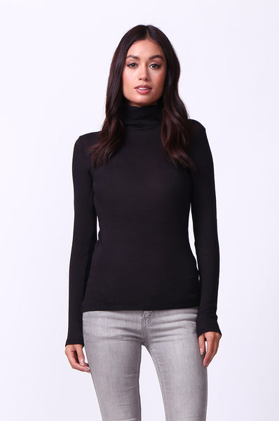 BASIC LONG SLEEVE TURTLE NECK TOP