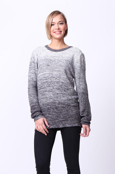 SPACEDYE LONG SLEEVE CREWNECK JUMPER