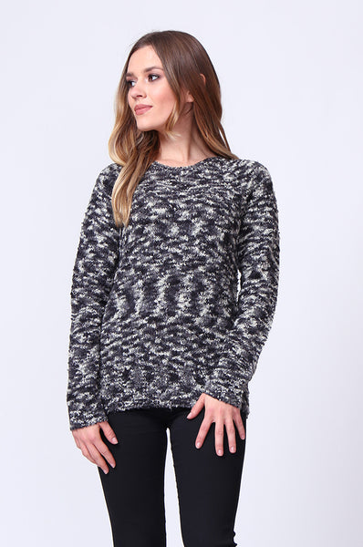 BOUCLE LONG SLEEVE CREW NECK JUMPER
