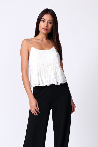 LACE CAMI CROP TOP