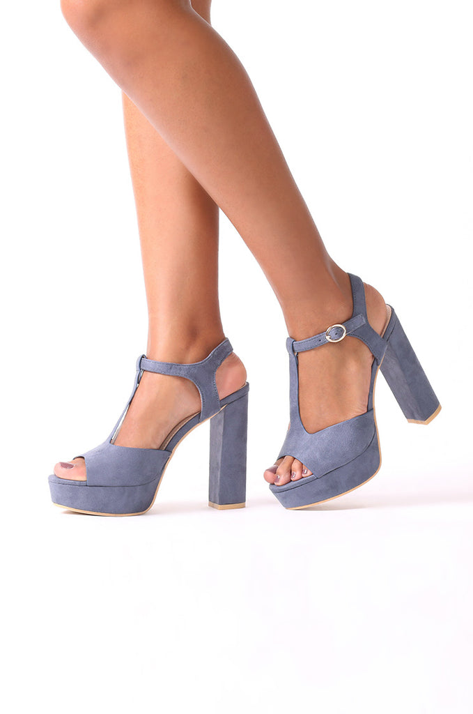 SCM0080-BLUE STRAPPY BLOCK HEELS