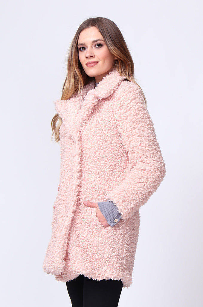 SD0196-PINK FLUFFY BOUCLE JACKET view 2